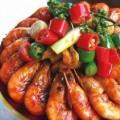 Pečeni škampi sa povrćem